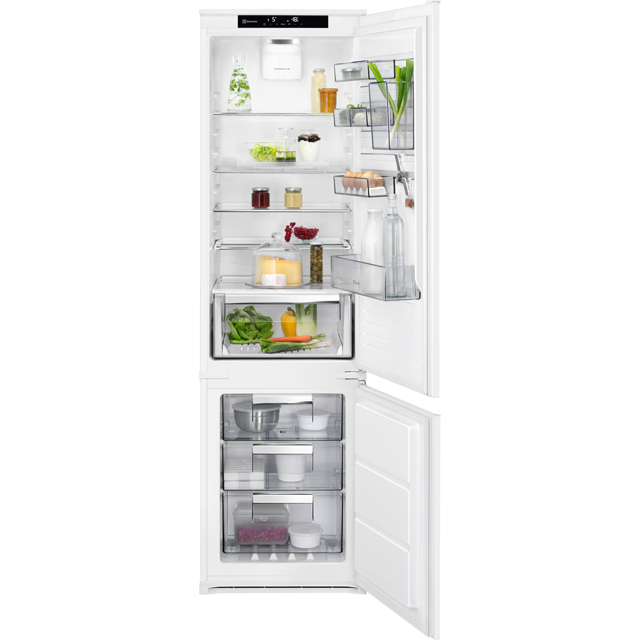 AEG SCE81928TS Integrated 70/30 Frost Free Fridge Freezer with Sliding Door Fixing Kit - White - A++ Rated - SCE81928TS_WH - 1