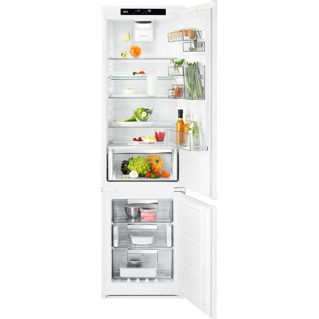 AEG SCE819E5TS Integrated 70/30 Frost Free Fridge Freezer with Sliding Door Fixing Kit - White - A++ Rated