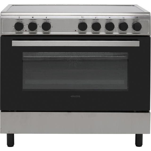 Electra SCR90SS 90cm Electric Range Cooker with Ceramic Hob - Stainless Steel - A Rated
