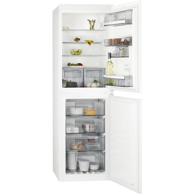 AEG Integrated 50/50 Frost Free Fridge Freezer with Sliding Door Fixing Kit - White - A+ Rated