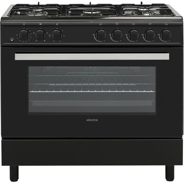 Electra SDF90B 90cm Dual Fuel Range Cooker - Black - A Rated