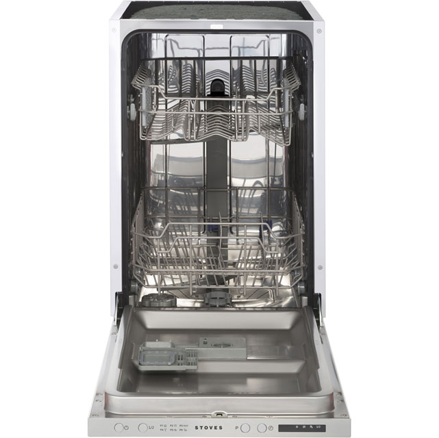 Stoves SDW45 Fully Integrated Slimline Dishwasher - Silver Control Panel with Fixed Door Fixing Kit - A++ Rated - SDW45_WH - 1