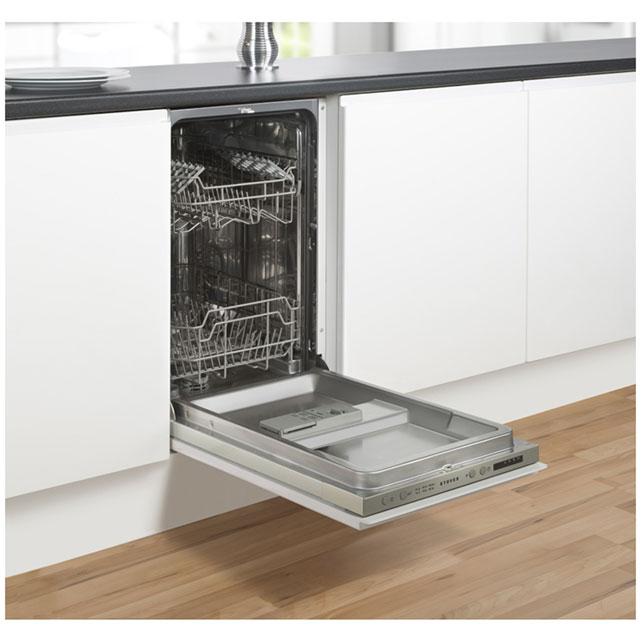 Stoves SDW45 Built In Slimline Dishwasher - Silver - SDW45_WH - 3