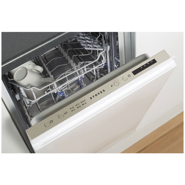 Stoves SDW45 Built In Slimline Dishwasher - Silver - SDW45_WH - 2