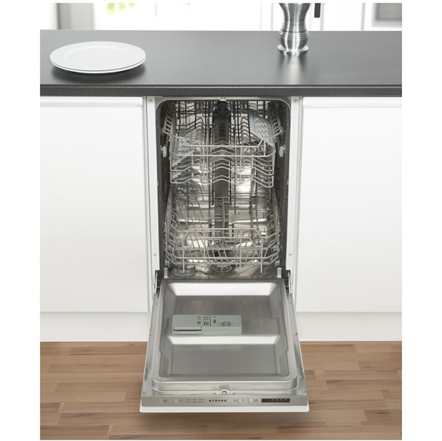 Stoves SDW45 Built In Slimline Dishwasher - Silver - SDW45_WH - 5