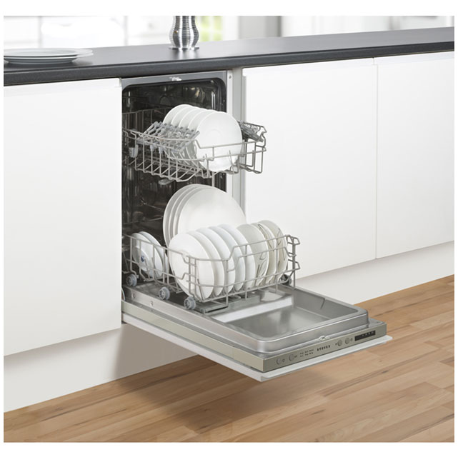 Stoves SDW45 Built In Slimline Dishwasher - Silver - SDW45_WH - 4