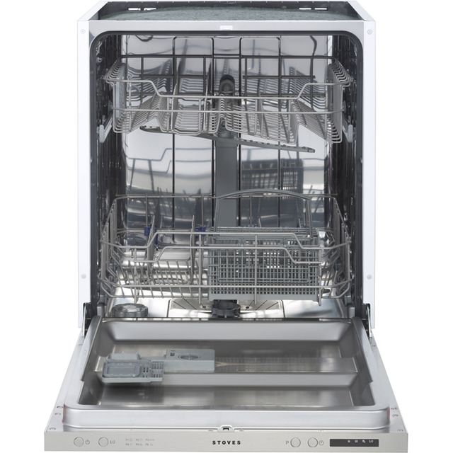 Stoves SDW60 Fully Integrated Standard Dishwasher - Silver Control Panel with Fixed Door Fixing Kit - A++ Rated - SDW60_BK - 1