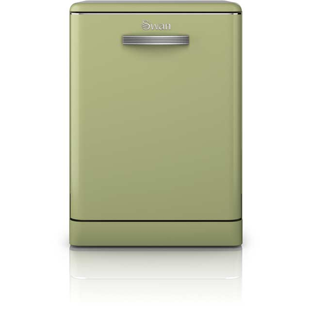 Swan Retro SDW7040GN Standard Dishwasher - Green - A+ Rated - SDW7040GN_GR - 1