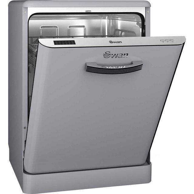 Swan Retro SDW7040GRN Standard Dishwasher - Grey - A+ Rated - SDW7040GRN_GY - 1