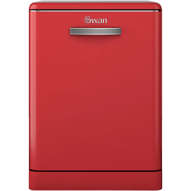 Swan Retro SDW7040RN Standard Dishwasher - Red - A+ Rated - SDW7040RN_RD - 1