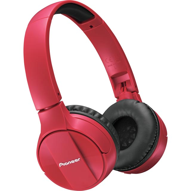 Pioneer SE-MJ553BT-R On-Ear Wireless Headphones - Red