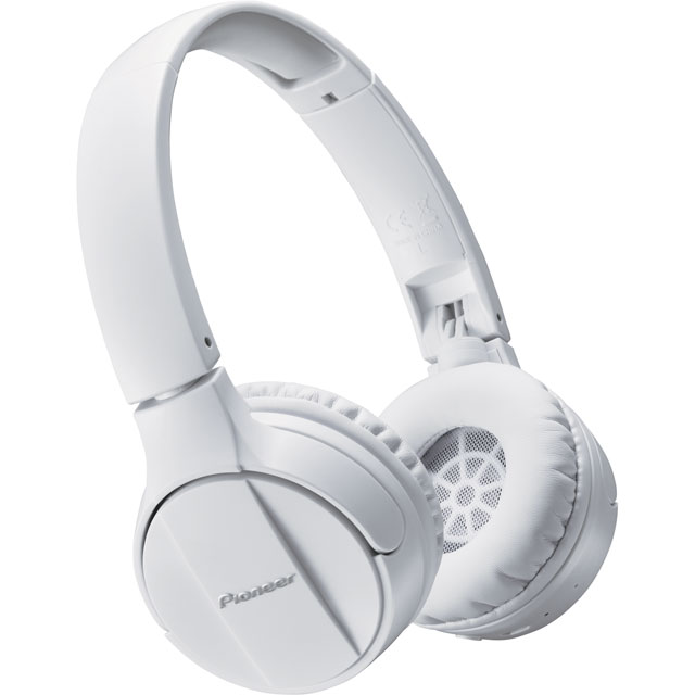 Pioneer SE-MJ553BT-W On-Ear Wireless Headphones - White