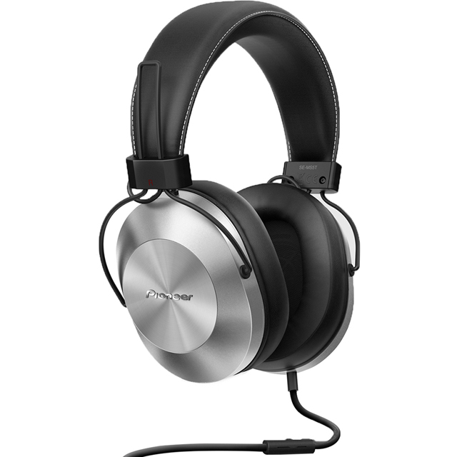 Pioneer SE-MS5T-S Over-Ear High-res Audio Headphones - Silver