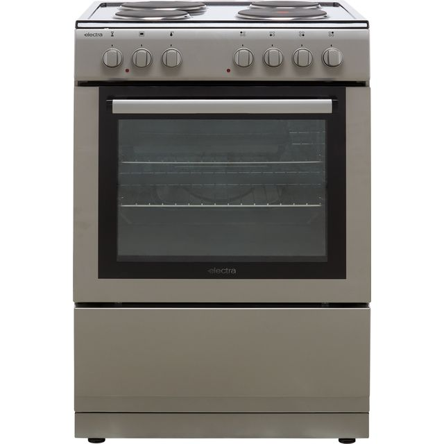 Electra SE60S Electric Cooker with Solid Plate Hob - Silver - A Rated