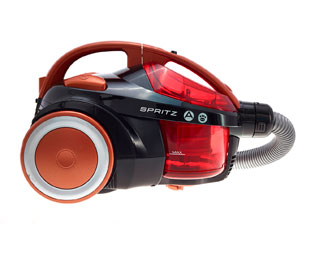 Hoover Spritz Bagless SE81SZ03001 Freestanding Cylinder Vacuum Cleaner - Black / Orange