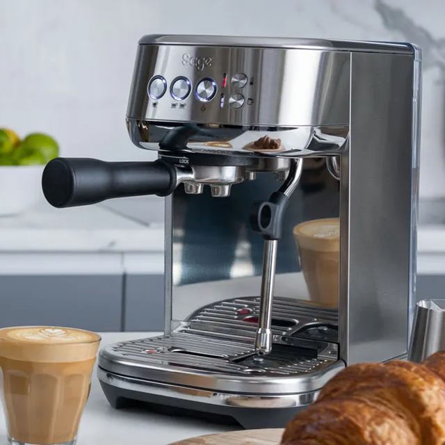 Sage The Bambino Plus SES500BSS4GUK1 Espresso Coffee Machine - Brushed Stainless Steel