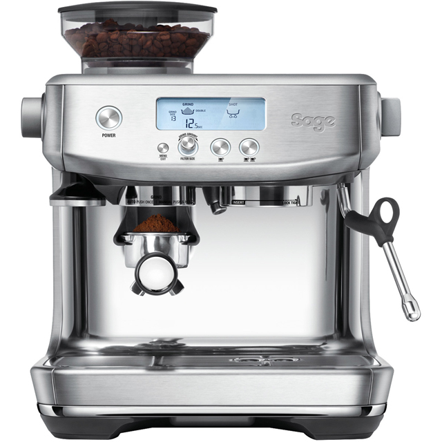Sage The Barista Pro SES878BSS Espresso Coffee Machine with Integrated Burr Grinder - Brushed Stainless Steel - SES878BSS_BSS - 1