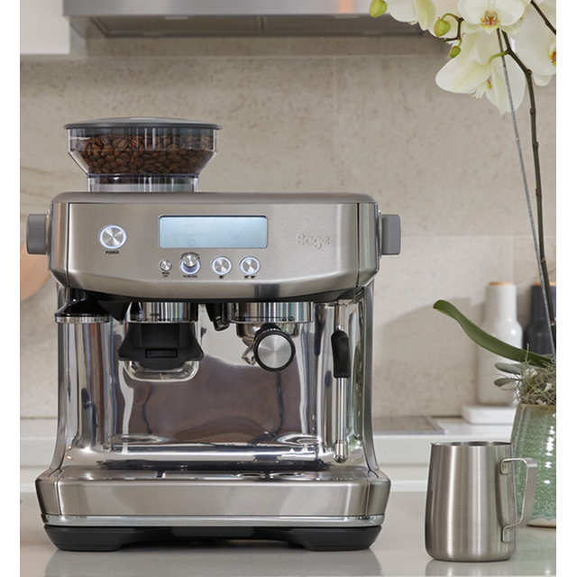Sage The Barista Pro� SES878BSS Espresso Coffee Machine with Integrated Burr Grinder - Brushed Stainless Steel