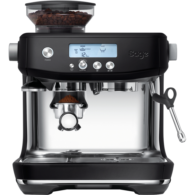 Sage The Barista Pro SES878BTR Espresso Coffee Machine with Integrated Burr Grinder - Black Truffle - SES878BTR_BTR - 1