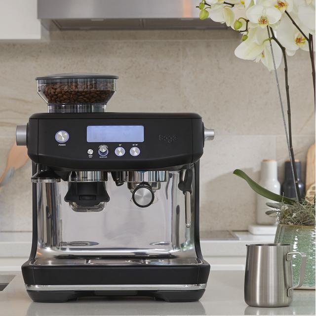 Sage The Barista Pro� SES878BTR Espresso Coffee Machine with Integrated Burr Grinder - Black Truffle
