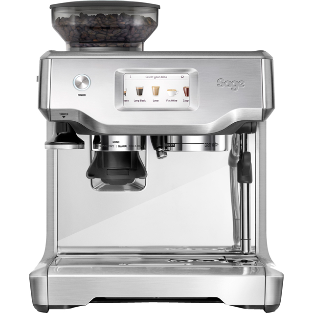 Sage By Heston Blumenthal The Barista Touch SES880BSS Bean to Cup Coffee Machine - Stainless Steel / Chrome
