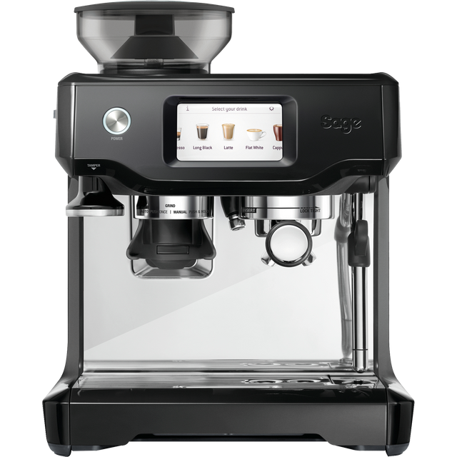 Sage The Barista Touch SES880BTR Bean to Cup Coffee Machine - Black Truffle - SES880BTR_BKT - 1