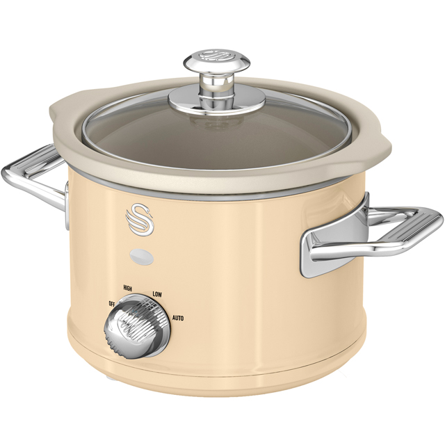Swan Retro SF17011CN 1.5 Litre Slow Cooker - Cream - SF17011CN_CR - 1