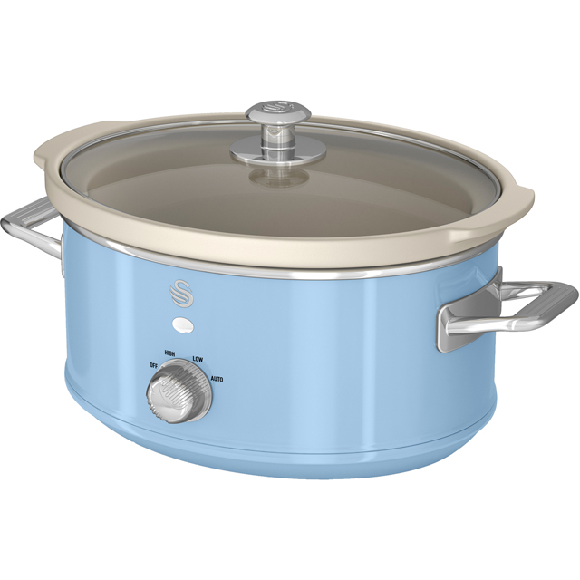 Swan Retro SF17021BLN 3.5 Litre Slow Cooker - Blue - SF17021BLN_BL - 1