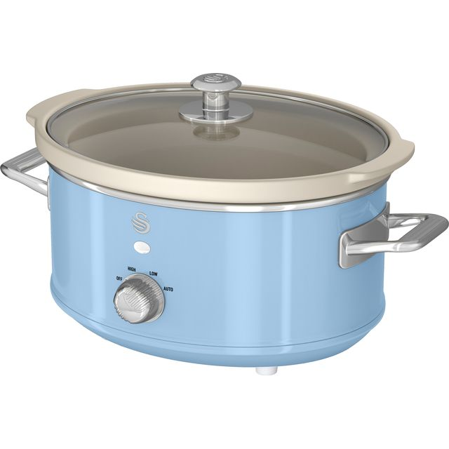 Swan Retro SF17021BLN 3.5 Litre Slow Cooker - Blue