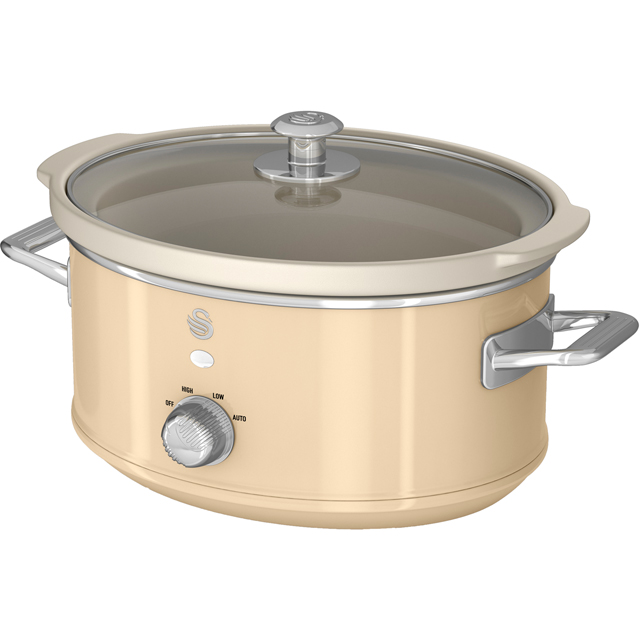 Swan Retro SF17021CN 3.5 Litre Slow Cooker - Cream - SF17021CN_CR - 1