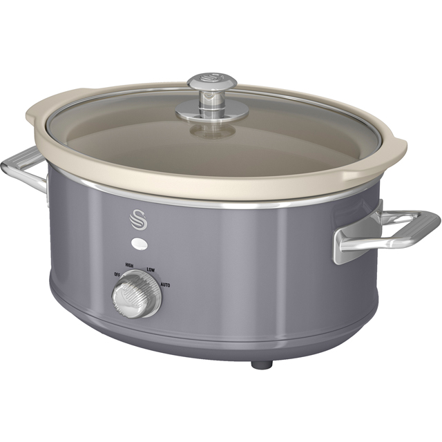 Swan Retro SF17021GRN Slow Cooker - Grey - SF17021GRN_GY - 1