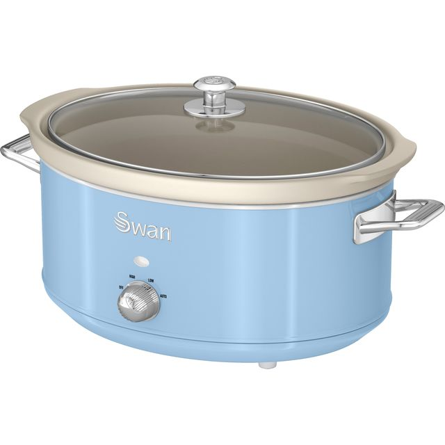 Swan Retro SF17031BLN 6.5 Litre Slow Cooker - Blue