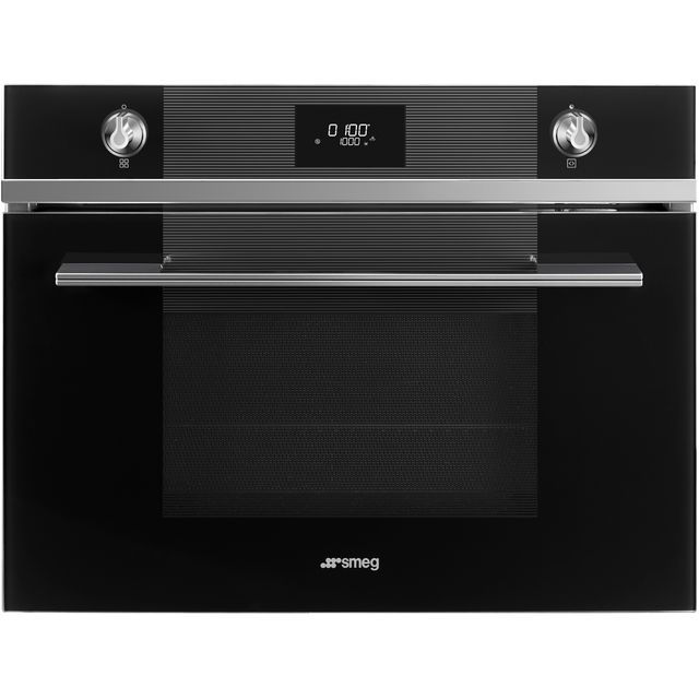 Smeg Linea SF4101MN1 Built In Microwave - Black - SF4101MN1_BK - 1