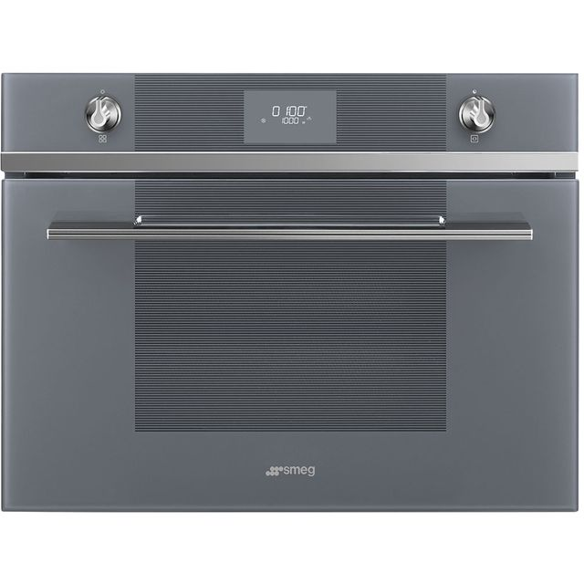Smeg Linea SF4101MS1 Built In Microwave - Silver - SF4101MS1_SI - 1
