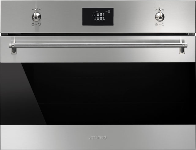 Smeg Classic SF4390MCX Built In Electric Single Oven - Stainless Steel - SF4390MCX_SS - 1