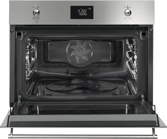 Smeg Classic SF4390MCX Built In Electric Single Oven - Stainless Steel - SF4390MCX_SS - 2