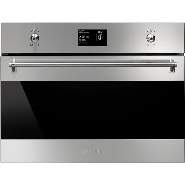 Smeg Classic SF4390VCX1 Built In Steam Oven - Stainless Steel - SF4390VCX1_SS - 1