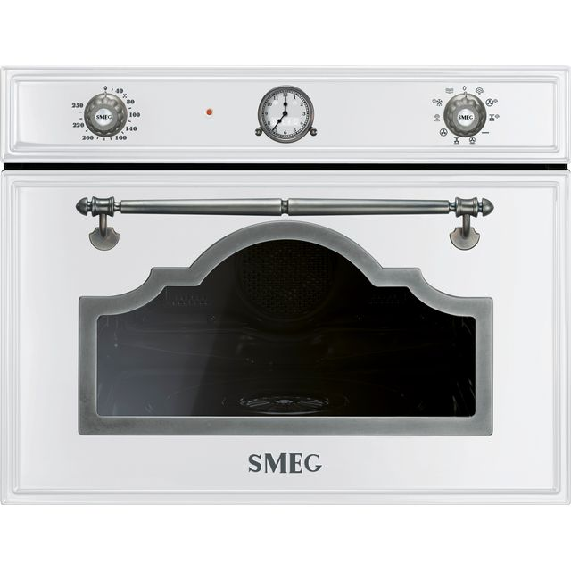 Smeg Cortina SF4750VCBS Built In Steam Oven - White / Silver - SF4750VCBS_WH - 1