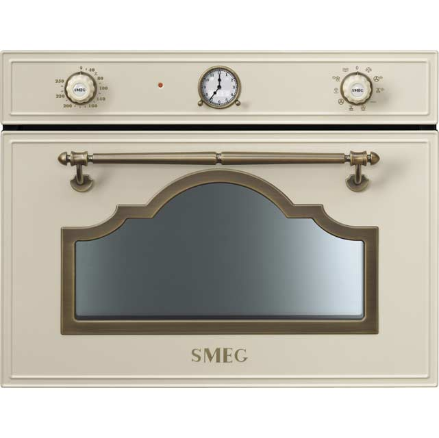Smeg Cortina SF4750VCPO Built In Steam Oven - Cream / Brass - SF4750VCPO_CR - 1
