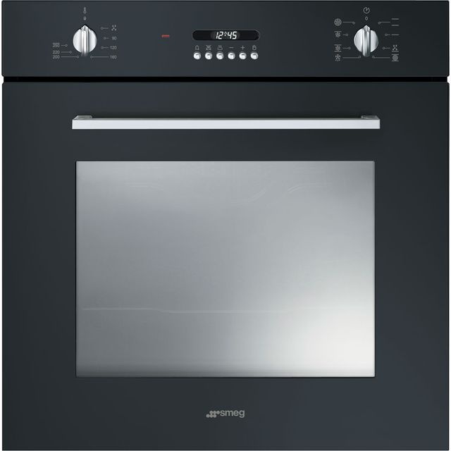 Smeg Cucina SF478N Built In Electric Single Oven - Black - A Rated - SF478N_BK - 1