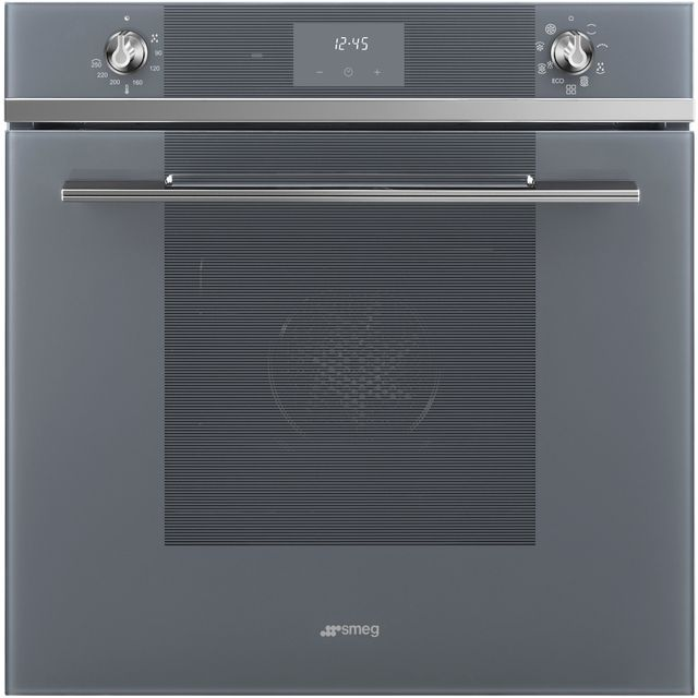 Smeg Linea SF6100TVS1 Built In Electric Single Oven - Silver - SF6100TVS1_SI - 1