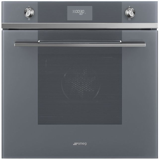 Smeg Linea SF6101TVS1 Built In Electric Single Oven - Silver - SF6101TVS1_SI - 1