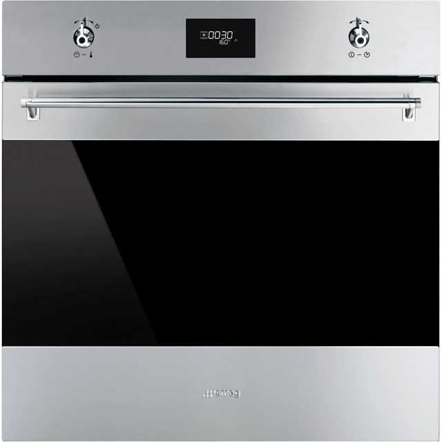 Smeg Classic SF6372X Built In Electric Single Oven - Stainless Steel - SF6372X_SS - 1
