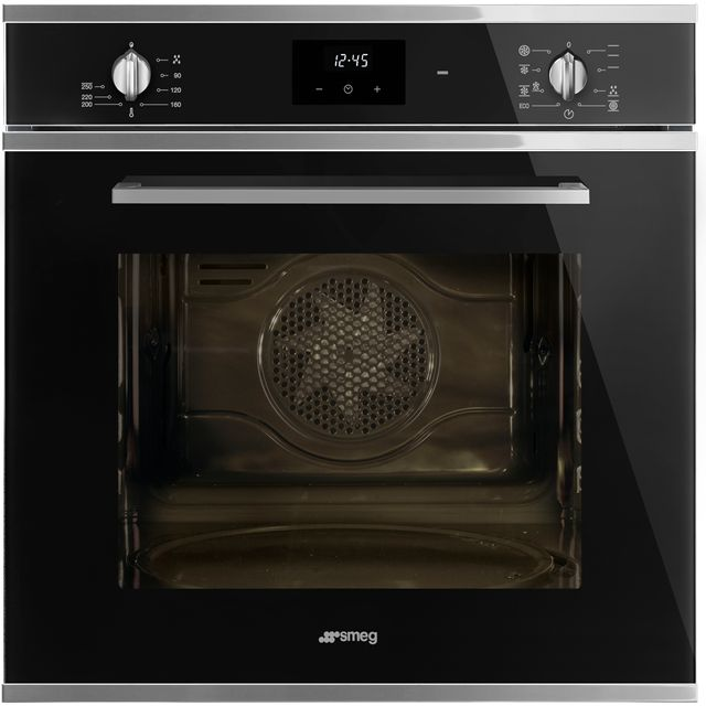 Smeg Cucina SF6400TVN Built In Electric Single Oven - Black - A Rated - SF6400TVN_BK - 1