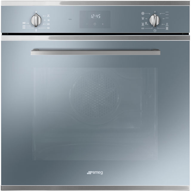 Smeg Cucina SF6400TVS Built In Electric Single Oven - Silver Glass - A Rated - SF6400TVS_SG - 1