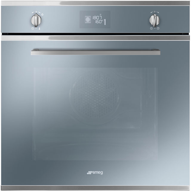 Smeg Cucina SF6402TVS Built In Electric Single Oven - Silver Glass - A Rated - SF6402TVS_SG - 1