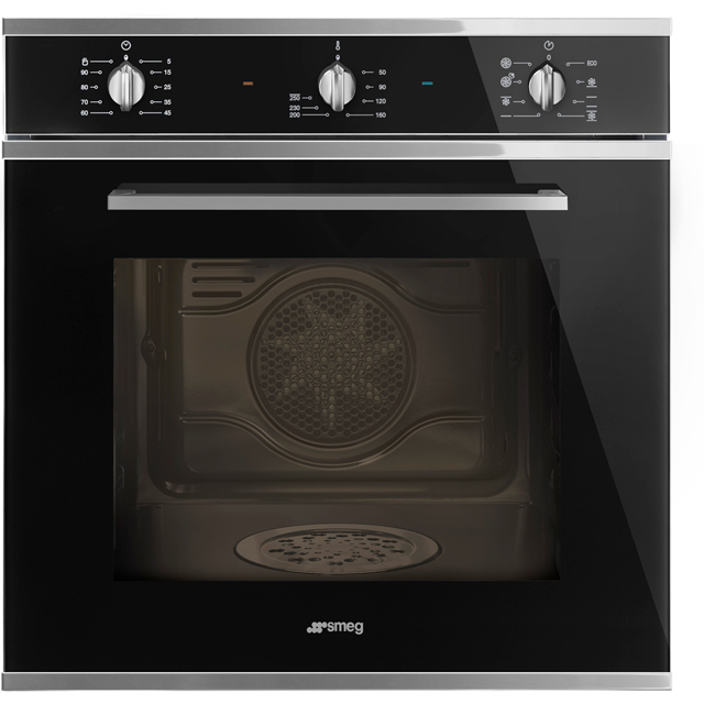 Smeg Cucina SF64M3DN Built In Electric Single Oven with added Steam Function - Black - SF64M3DN_BK - 1