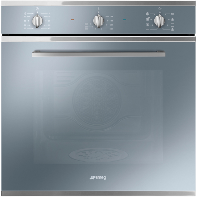 Smeg Cucina SF64M3DS Built In Electric Single Oven with added Steam Function - Silver Glass - SF64M3DS_SG - 1