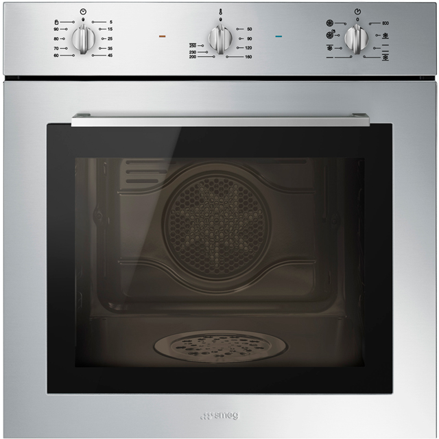 Smeg Cucina SF64M3DX Built In Electric Single Oven with added Steam Function - Stainless Steel - A Rated - SF64M3DX_SS - 1