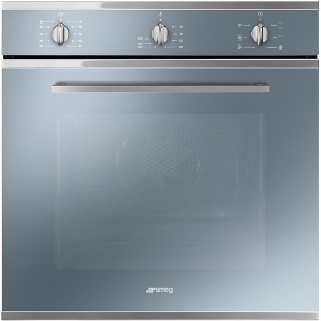 Smeg Cucina Electric Single Oven - Silver Glass - A Rated